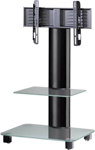 TV tartó állvány alumíniumból, fekete üvegpolccal, fekete színben VCM Bilano 17096