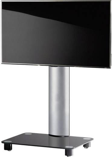 TV tartó állvány alumíniumból, fekete, ezüst színben VCM Bilano 17105