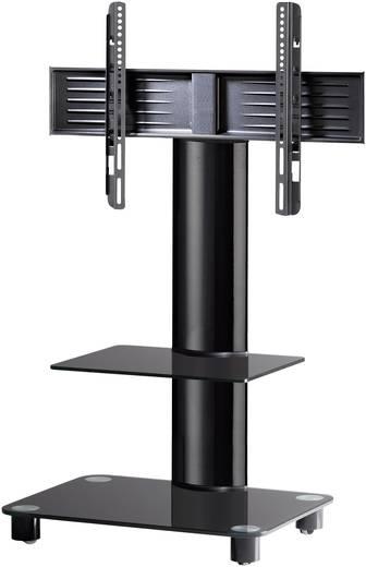 TV tartó állvány alumíniumból, fekete üvegpolccal, 81 - 152cm (32-60) készülék méretig VCM Tosal 17116