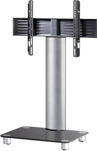 TV tartó állvány alumíniumból, ezüst színben, fekete üveggel 81 - 152cm (32-60) készülék méretig VCM Tosal 17125