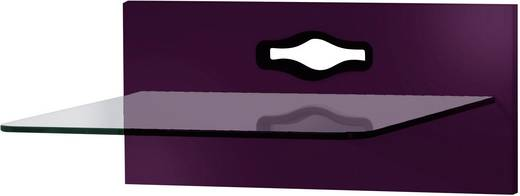 Fali tartó konzol, TV-hez, Hi-Fi berendezésekhez lila színben VCM Xeno-1 19083
