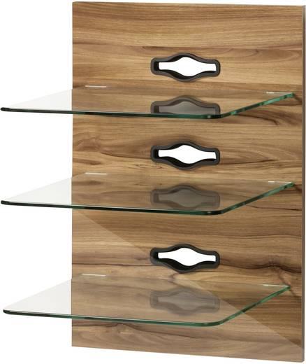 Fali tartó konzol, TV-hez, Hi-Fi berendezésekhez, 3 részes polcrendszerrel, fa hatású VCM Xeno-3 19311