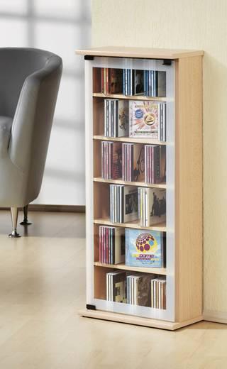 CD, DVD tároló szekrény 150db CD vagy 65db DVD tárolására, barna VCM Classic 21034