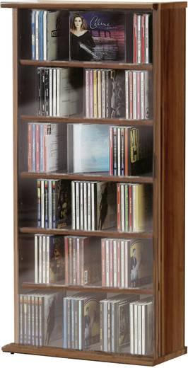 CD, DVD tároló szekrény 150db CD vagy 65db DVD tárolására, dió színben VCM Vostan 25244