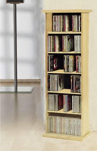 CD, DVD tároló szekrény 150db CD vagy 65db DVD tárolására, tölgy színben VCM Vostan 25248