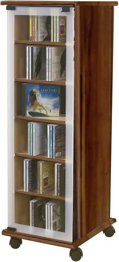 CD, DVD tároló szekrény 300db CD vagy 130db DVD tárolására, dió színben VCM Valenza 30032