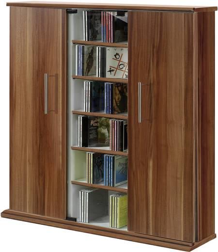 CD, DVD tároló szekrény 450db CD vagy 195db DVD tárolására, dió színben VCM Santo 45032