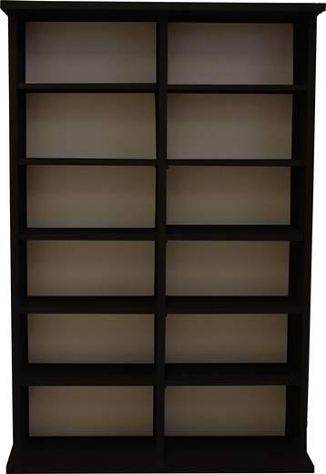CD, DVD tároló szekrény 300db CD vagy 130db DVD tárolására, fekete színben VCM Ronul 50441