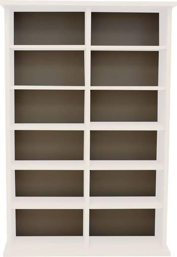CD, DVD tároló szekrény 300db CD vagy 130db DVD tárolására, fehér színben VCM Ronul 50445
