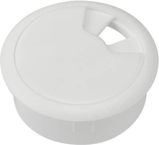 Tru Components kábelátvezető munkaasztalhoz, Ø68x27 mm, ABS fehér