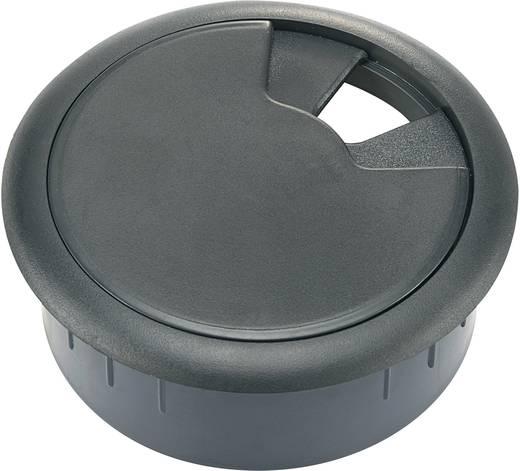 Conrad kábelátvezető munkaasztalhoz, Ø68x27 mm, ABS fekete