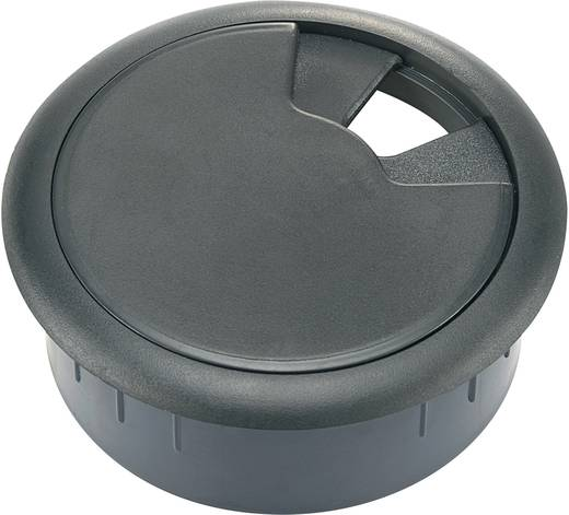 Tru Components Kábelátvezetők munkalapokhoz WP80BK (Ø x Ma) 89 mm x 29.5 mm ABS Fekete