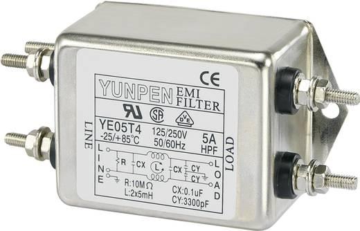 Yunpen Hálózati szűrő 250 V/AC YE05T4 2 x 5 mH 250 V/AC 5 A