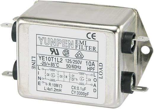 Yunpen Hálózati szűrő 250 V/AC YE10T1L2 4 x 1.2 mH 250 V/AC 10 A