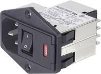 Hálózati szűrő 2 biztosítékkal, műszercsatlakozó aljjal, 250 V/AC 6 A TE Connectivity PE000DS6A=C2397 TE Connectivity