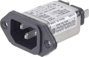 Hálózati szűrő műszercsatlakozó aljjal, 250 V/AC 6 A 465 mH TE Connectivity 1-6609006-0 TE Connectivity