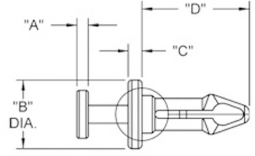 Richco Mini szegecsek, TRM (A x B x C x D) 1.3 x 5.5 x 1.5 x 11.6 mm Lemezméret 6.1 - 6.7 mm Nylon Fekete