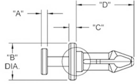 Richco Mini szegecsek, TRM (A x B x C x D) 1.3 x 5.5 x 1.5 x 7.6 mm Lemezméret 2 x 2.7 mm Nylon Fekete