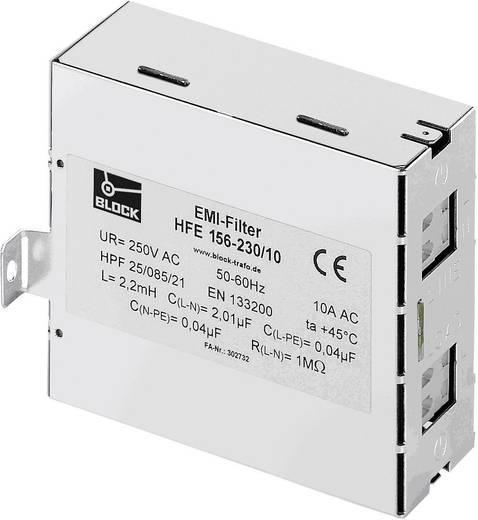 Rádiójel vezérlésű zavarszűrő, 250 V/AC 10 A (Sz x Ma) 40 mm x 85 mm Block HFE 156-230/10 1 db