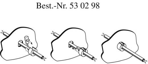 PB Fastener Kábelátvezető törésgátlóval 300 1155 KábelØ Kerek kábel, 6,4 x 7,4 mm Poliamid Fehér