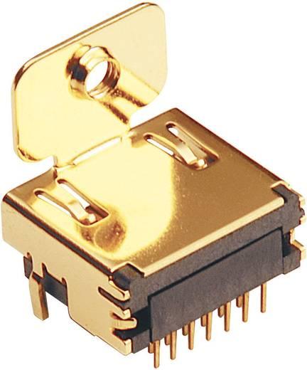 HDMI csatlakozó alj, beépíthető, vízszintes pólusszám: 19 arany BKL Electronic 907000 1 db