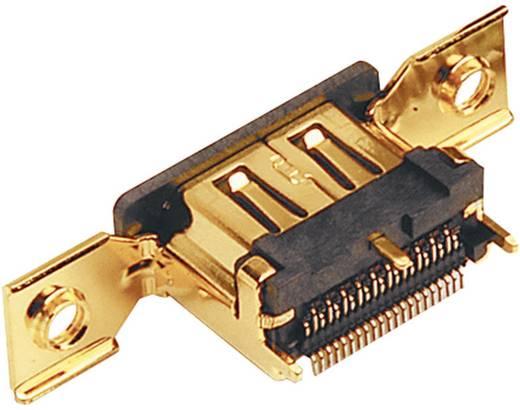 HDMI csatlakozó alj, beépíthető, függőleges pólusszám: 19 arany BKL Electronic 907002 1 db