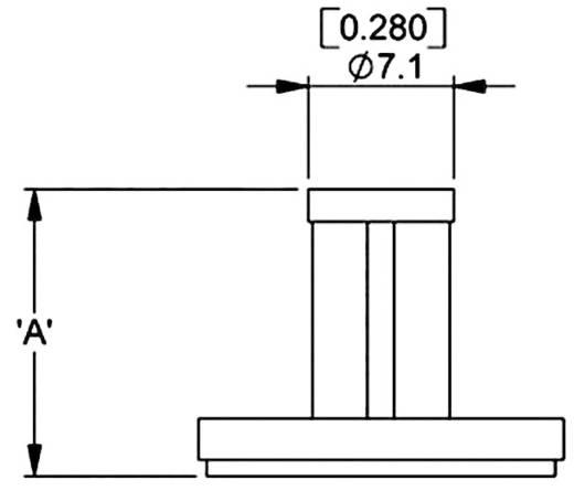 Richco Öntapadó távtartó, PSB PSB-8M-01A2-RT Öntapadó (H x Sz x Ma) 17.8 x 17.8 x 8 mm Poliamid