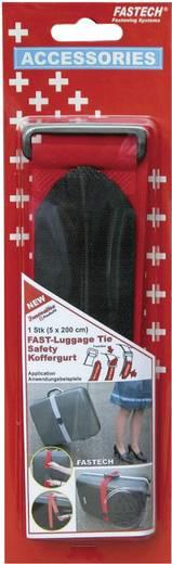 Tépőzáras öv poggyászhoz, 200 cm x 5 cm, piros, Fastech 922-1339