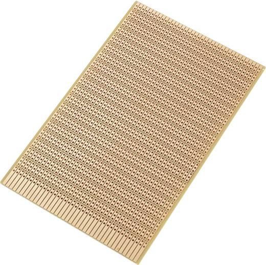 Tru Components Euro panel SU527815 (H x Sz) 160 mm x 100 mm Raszterméret 2.54 mm Keménypapír réz borítással