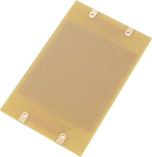 Conrad Euro panel - pontraszterrel SU529028 (H x Sz) 160 mm x 100 mm Raszterméret 2.54 mm Keménypapír réz borítással