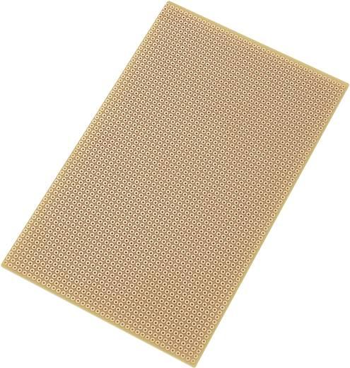 Tru Components Euro panel - pontraszterrel SU527769 (H x Sz) 160 mm x 100 mm Raszterméret 2.54 mm Keménypapír réz borítá