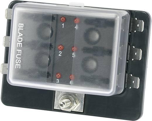SCI 6 részes gépkocsi biztosíték tartó állapotjelző LED-del, R3-76-01-3L106
