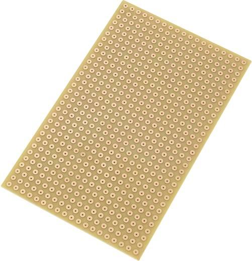 Tru Components Euro panel - pontraszterrel SU527785 (H x Sz) 160 mm x 100 mm Raszterméret 5.08 mm Keménypapír réz borítá