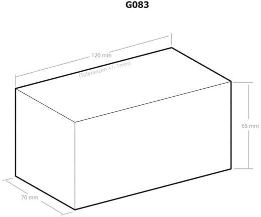 Univerzális műszerdobozok Műanyag Fekete 120 x 70 x 65 Kemo G083 1 db