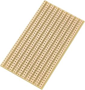 Euro panel Keménypapír (H x Sz) 90 mm x 50 mm 35 µm Raszterméret 5.08 mm TRU COMPONENTS SU527610 1 db TRU COMPONENTS