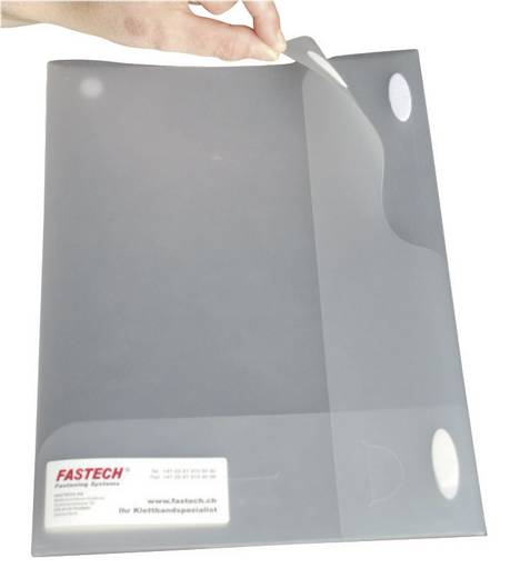 Öntapadó tépőzár pontos, 35 x 12 x 0,8 mm, 6 pár, fehér, Fastech 686-010