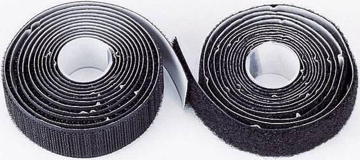 Öntapadó tépőzár, 2000 mm x 25 mm, fekete, 1 pár