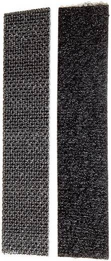 Tépőzár, 100 mm x 20 mm, fekete, 1 pár, Fastech