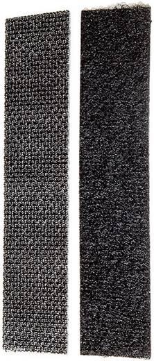 Tépőzár, 200 mm x 20 mm, fekete, 1 pár, Fastech