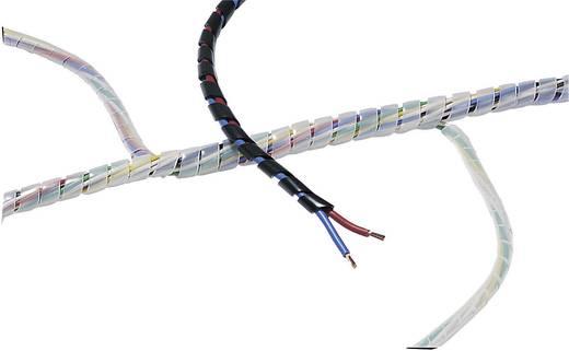 Spirál kábelkötegelő, szürke SBPE4D-PE-GY-5M HellermannTyton, tartalom: 5 m