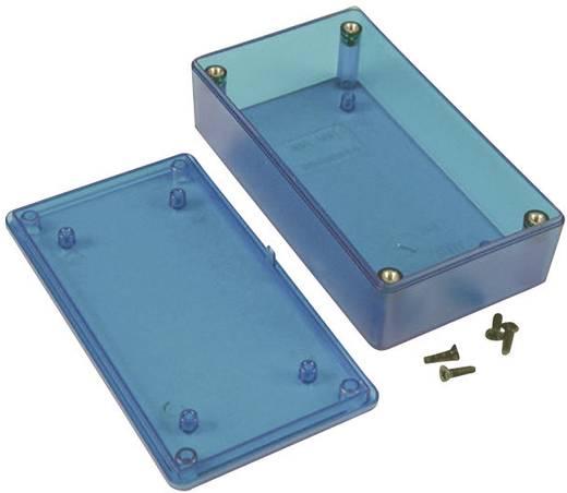 Műszerdoboz, 1591XX-es típus, 87X57X36 mm, kék átlátszó