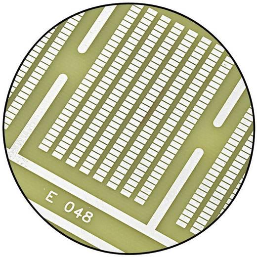 SMD Euro kísérleti panel, átkötött vezetőpályák az áramellátáshoz 160 x 100 mm, RM 1.27 mm Epoxi, Conrad SU528048