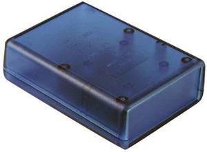 Műszerdoboz ABS 112 x 66 x 28 mm, kék, átlátszó, Hammond Electronics 1593QTBU Hammond Electronics