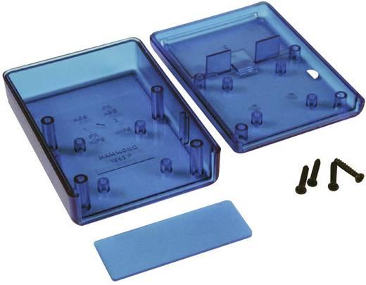 Műszerdoboz ABS 66 x 66 x 28 mm, kék, átlátszó, Hammond Electronics 1593KTBU