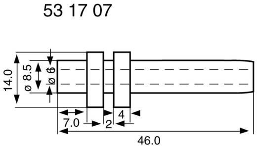Törésgátló Szorítási átmérő (max.) 6 mm PVC Fekete HellermannTyton H321-PVC-BK-T1 1 db