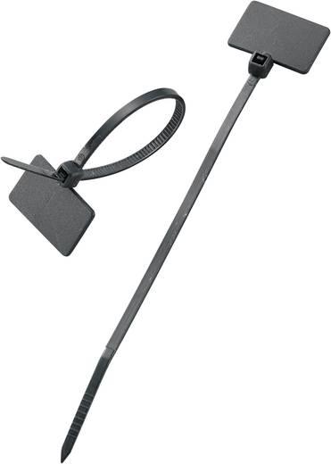 Feliratozható kábelkötöző, 100x2,5 mm, fekete, 100 db
