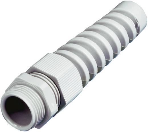 Kábelcsavarzat tehermentesítéssel, törésvédelemmel PG16 Poliamid Fényes szürke Wiska 10060619 1 db