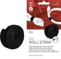 Tépőzár szalag tekercsben 3 m x 16 mm, fekete, LTC 1210 (LTC 1210) Label the Cable