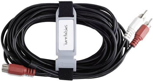 Tépőzár jelölő címke, fekete/piros/átlátszó Cable 22107