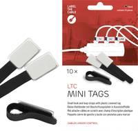 Tépőzáras kábelkötöző jelölővel, 90 x 20 mm, fekete, 10 db (2510) Label the Cable